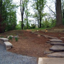 Timber retaining wall Fairfax Virginia