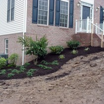 New Home landscape installation Nothern Virginia